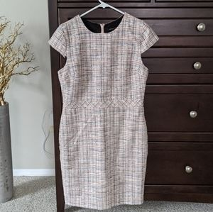 Banana Republic Pink Tweed Dress 10P